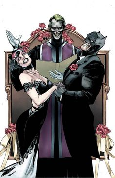 Their wedding is gonna be so beautiful 😭😭 Stupid Joker is probably gonna ruin it... Batman Universe, Dc Universe, Man Of Steel, Dark Knight, Gotham City, Joker And Harley Quinn, News Stories, Justice League, Dc Comics
