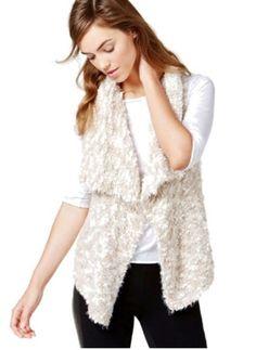 Kensie Women's New $99 Asymmetrical Sweater Vest String (L) #Kensie #Vest