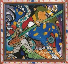 George I. George slaying dragon is one of artworks by Wassily Kandinsky. Artwork analysis, large resolution images, user comments, interesting facts and much more. Kandinsky Prints, Wassily Kandinsky Paintings, Abstract Painters, Abstract Art, Framing Canvas Art, Oil Painting Gallery, Museum, Oil Painting Reproductions, Saint George