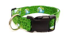 Earth Day Adjustable Dog Collar  1  by MuttsandMittens on Etsy