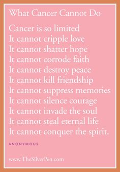What-cancer-cannot-do...Prayer request for Gabe Lyall, Sky Miller, Jenna Deskins  Ben Gilman...God please heal these children!!