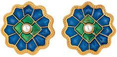 Medieval Disc Rosette Button Earrings - Met Museum Store