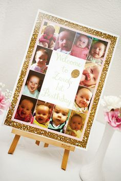 """Gorgeous """"All That Glitters is Gold"""" First Birthday Party"""