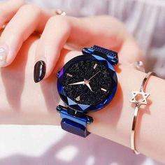 Shop & Buy Luxury Women Watches Ladies Watch Starry Sky Magnetic Waterproof Female Wristwatch Luminous relogio feminino reloj mujer Online from Aalamey Trendy Watches, Cool Watches, Watches For Men, Cheap Watches, Women's Watches, Wrist Watches, Jewelry Watches, Gold Diamond Watches, Accesorios Casual