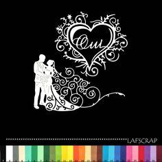 lot découpes scrapbooking scrap mariage noces mariés coeur découpe papier die cut création
