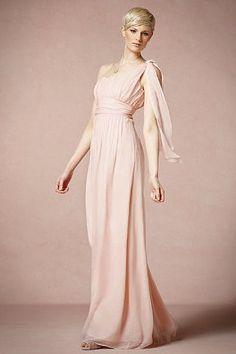 The best blush bridesmaid dresses #wedding