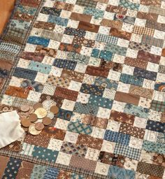 Love the blue and brown combination in this quilt.