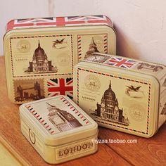 retro tin box london