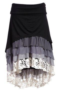 lengthen a short skirt w/ ruffles | best stuff