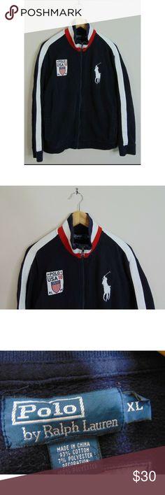 1b98fff604d35 Polo Ralph Lauren XL USA Warm-Up Sweatshirt Blue Polo Ralph Lauren Women s  XL USA