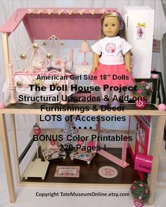 American Girl _ Our Generation_18 inch Doll House Upgrades, Furniture & Decor - 220 pages with over 20 pages of printables! (Rugs, art work, wall border, lamp shades, and more!) Tate Museum Online at etsy.com only $12.99