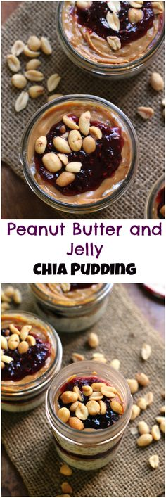 Everyone's favorite sandwich get chia-fied! This peanut butter and jelly chia pudding hits the PB&J spot and is a great way to start the day.