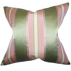 Green The Pillow Collection Daithi Floral Pillow