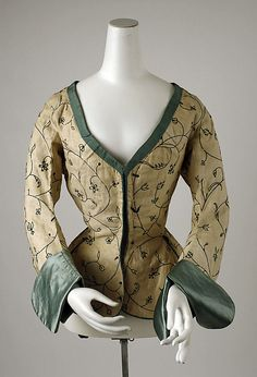 Jacket. Britain, 1600-1625. Linen, silk and wool. From the Met: C.1.60.26.8
