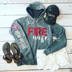Excited to share this item from my shop: Fire Wife sweatshirt/firefighter wife/ff wife/wife/sweatshirt/firefighter/gifts for her original christmas gifts, christmas gifts for the inlaws, christmas diy gifts Diy Gifts For Mom, Diy Holiday Gifts, Gifts For Her, Christmas Gifts, Classy Christmas, Funny Christmas, Firefighter Love, Firefighter Shirts, Firefighter Engagement