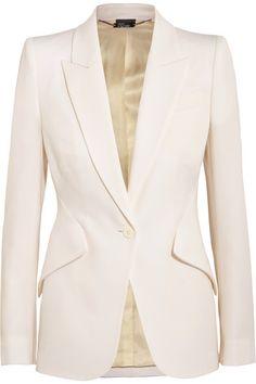 ALEXANDER MCQUEEN Wool-Piqué Blazer. #alexandermcqueen #cloth #jackets