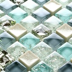 mini 15*15mm blue color crystal glass mosaic tiles for bathroom shower swimming pool tile wall mosaic tiles 12*12""