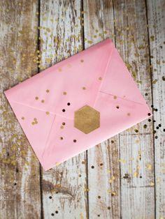 Blank hexagon brown kraft paper stickers by ctdscraftsupply