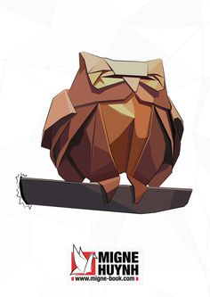 Illustration Origami from Migne-Book.com by Migne Huynh, via Behance