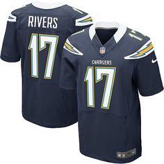 Men's Nike San Diego Chargers #17 Philip Rivers Elite Team Color Navy Jersey $129.99