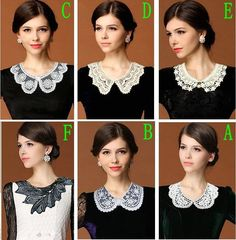 Fashion Women Various styles Lace hollow out Detachable False Collar Necklace #Unbranded. Would really look live with my high collar black tops and dresses.