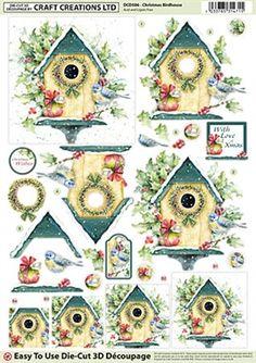 Craft Creations Die Cut Decoupage Christmas Birdhouse