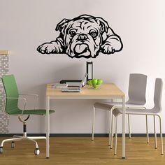 Dog Decal English Bulldog Tongue Vinyl Sticker Decal by PSIAKREW