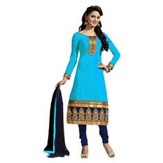 Buy Salesway Blue Georgette Dress Material by salesway, on Paytm, Price: Rs.879?utm_medium=pintrest