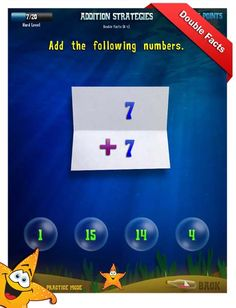 First Grade Math Apps - Addition strategies - Double facts Worksheet