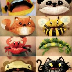 Lip paint designs
