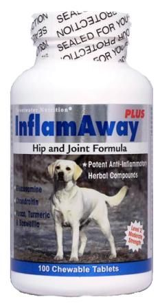 InflamAway Plus: Joint Support with Glucosamine Chondroitin and MSM For Dogs