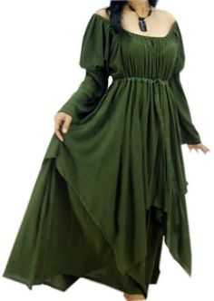 Green Wedding Dresses for a Beltane Handfasting