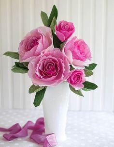 Image result for hoa giấy cắm lọ
