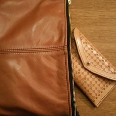 """#hand made to order #leather clutchbag #tan #tooled #vegtan #purse #gorgeus"""