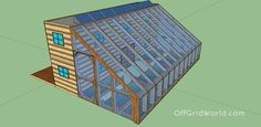Off grid two story shipping container house with a greenhouse attachment all for 25k
