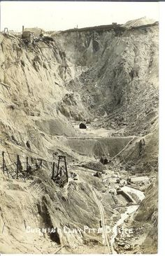 CLAY PIT: 'a view of a clay works (Caudledown) up the hill towards Hensbarrow' in Cornwall. South West Coast Path, China Clay, Cornwall England, Laundry Hacks, Medieval Castle, Ancestry, Cousins, Wales, Tin