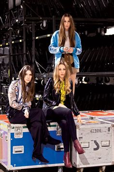 Get To Know The Sisters Behind the Band Haim via Teen Vogue