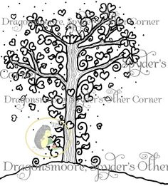 Freebie: Heart Tree Digi · Stamping | CraftGossip.com