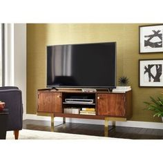 Shop a great selection of Beckley TV Stand TVs 65 George Oliver. Find new offer and Similar products for Beckley TV Stand TVs 65 George Oliver. Contemporary Entertainment Center, Entertainment Centers, Home Tv Stand, Traditional Cabinets, Flat Panel Tv, Colorful Furniture, Unique Furniture, Kitchen Furniture, Furniture Deals