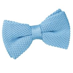Men's Knitted Baby Blue Bow Tie