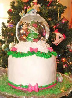 Pastel bola de navidad