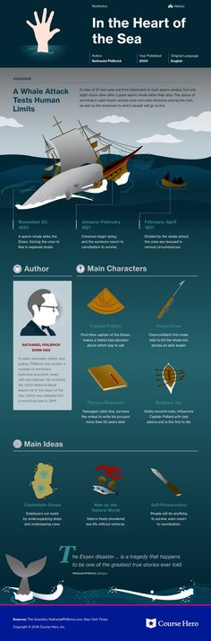This infographic on In the Heart of the Sea is both visually stunning and informative! Literature Books, American Literature, English Literature, Classic Literature, Classic Books, Library Books, Teaching Literature, Reading Books, Book Infographic