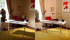 🌄 «Cosimo Desk»: основа современного офиса для дома   Если Вы ищите стильный современный дизайн, который бы стал главным фокусом в Вашем домашнем кабинете, тогда Вам наверняка понравятся чистые линии рабочего стола «Cosimo Desk». Этот предмет состоит из центральной столешницы с двумя ящиками для хранения с каждой стороны. В процессе разработки использовались ДВП, окрашенное белым цветом, и фанера из мореного дуба. Легкости и элегантности этому столу придает хромированный металлический…