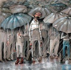 Lisa Aisato N'jie Solberg is the artist behind this fabulous picture. Love her work ♥ Rain Art, Sun Umbrella, Parasols, Drawing S, Childrens Books, Norway, Illustrators, Love Her, Lisa