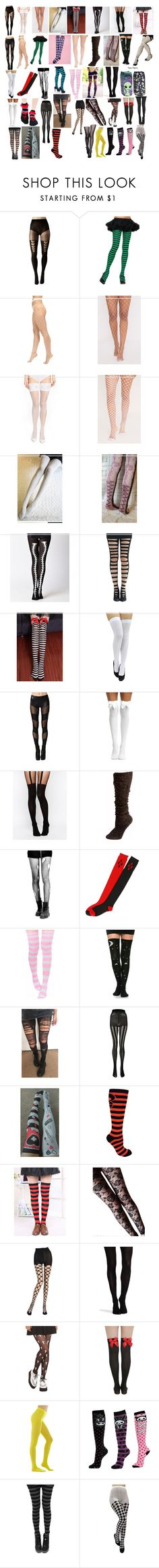 """Tights 4"" by spellcasters ❤ liked on Polyvore featuring Pretty Polly, Leg Avenue, Wolford, Kally Kay, Hot Topic, ASOS, Boohoo, Emilio Cavallini, SPANX and Andrew Gn"