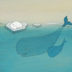 """Saved by the Whales"" Print by Kristiana Pärn"