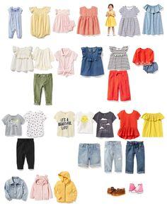 Toddler Girl Spring Wardrobe 2017 - Old Navy Clothes, Zappos Shoes
