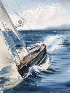 500 Idees De Aquarelle Maritime Bateaux Bateaux Aquarelle Peinture