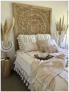 Boho bedroom styling by Tropical Interiors Style de chambre Boho par Tropical Interiors Tropical Interior, Tropical Furniture, Bohemian Bedroom Decor, Junk Gypsy Bedroom, Tribal Bedroom, Tropical Bedroom Decor, Tropical Bedrooms, Boho Decor, Awesome Bedrooms
