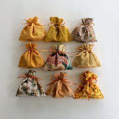 Orange Rust Bags  9 Reusable Eco-Friendly Cotton Fabric